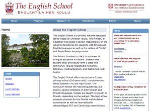 english school kotisivu