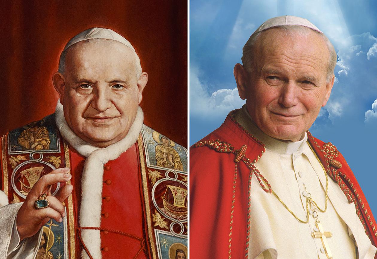Blesseds John XXIII, John Paul II to be made saints April 27