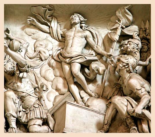 Resurrection Relief by Lazzoni in San Giovanni in Laterano
