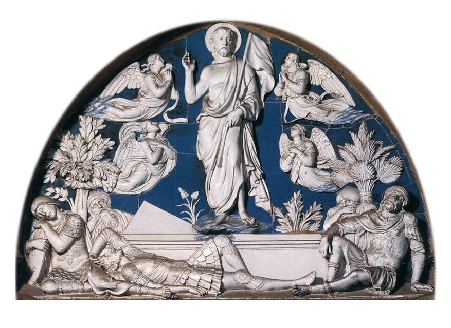 Resurrection (1442-1445) Luca della Robbia, Santa Maria del Fiore, Firenze