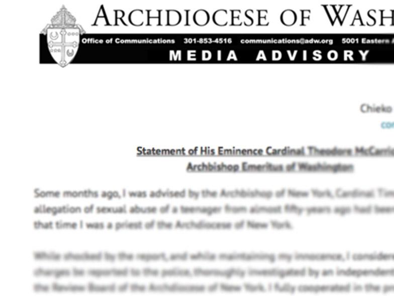 Yhdysvaltalaispiispa menetti kardinaalin arvon
